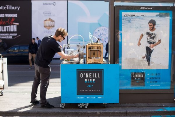 Sustainable OOH: O'Neill uses 3D printing to highlight benefits of recycling, JCDecaux Netherlands