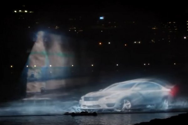 Nissan Altima water projection, Canada Day