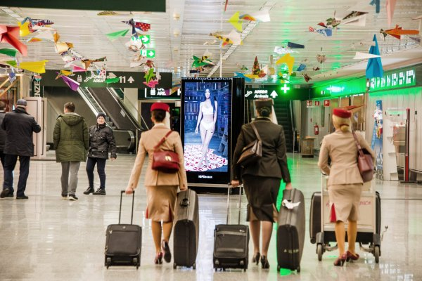 #mycalvins JCDecaux OneWorld campaign, 1 day rollout, Milan Airport