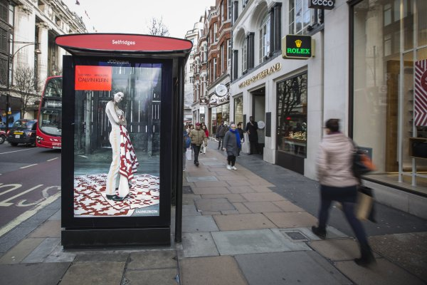 #mycalvins JCDecaux OneWorld campaign, 1 day rollout, London oxford street