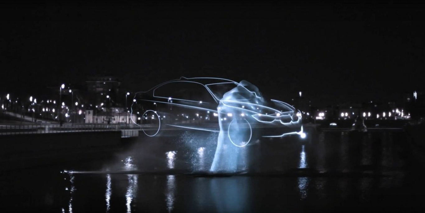 BMW Series 3 water projection