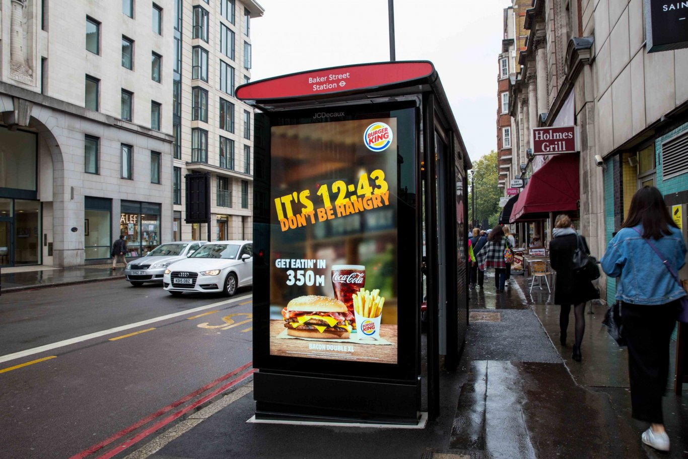 Burger King, Drive to Store, JCDecaux UK
