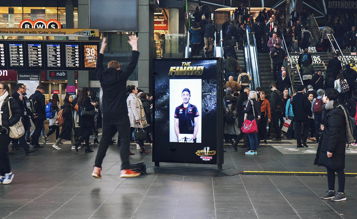 AFL live streaming video call with fans, JCDecaux Australia Aug 2017