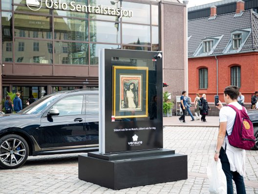 Verisure campaign in Norway - using Munch's 'Madonna'