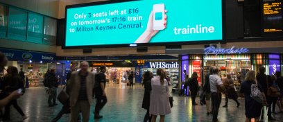 Trainline live ticket availability campaign, JCDecaux Dynamic, UK