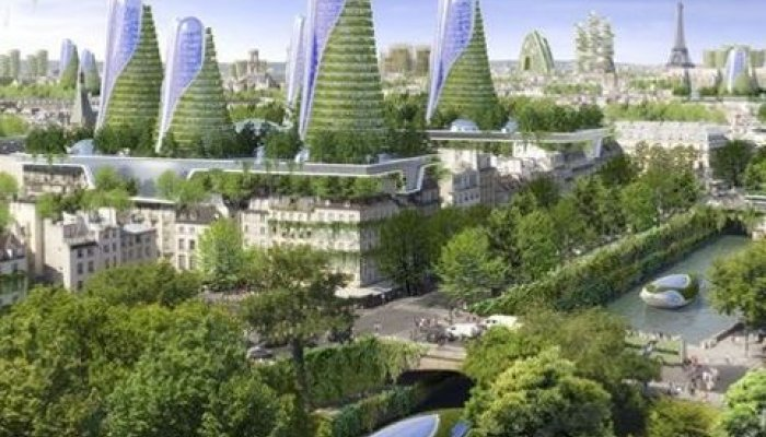 Paris 2050 green towers to fight global warming for Piscine montparnasse